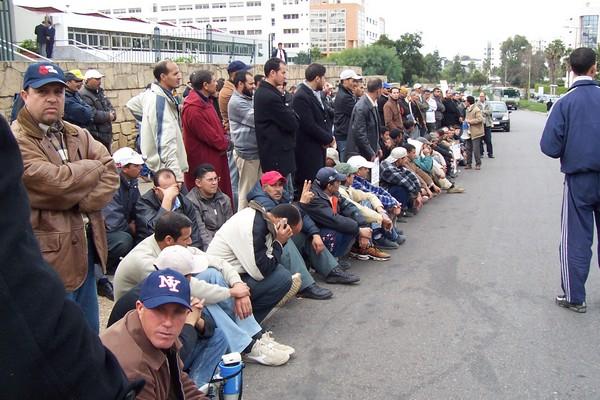 Sit-in des ouvriers de l'OCP Ocp110