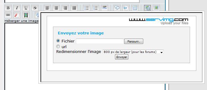 comment insérer une photo dans un texte Upload10