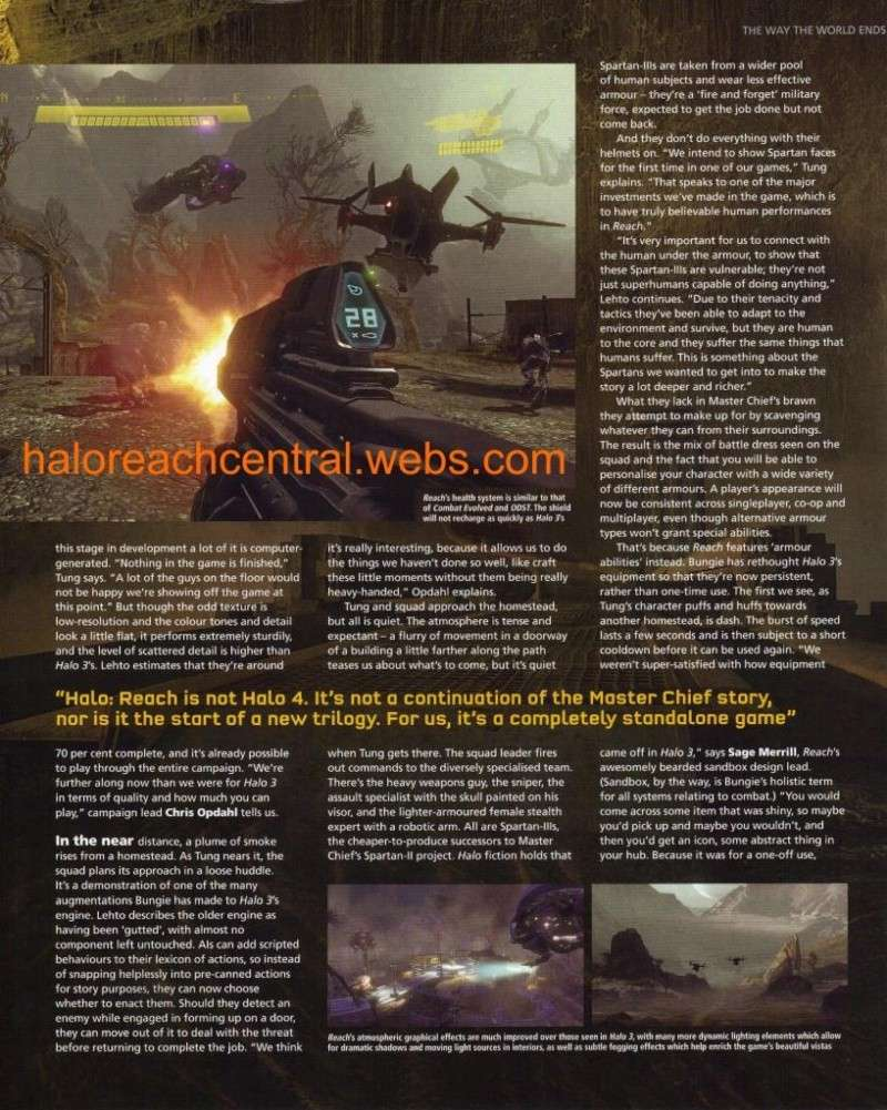 More halo reach info from EDGE with Scans Page5110