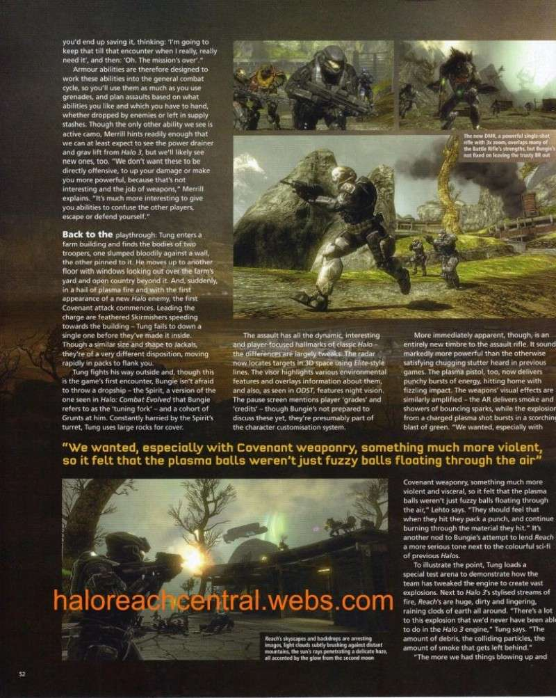 More halo reach info from EDGE with Scans Page5210
