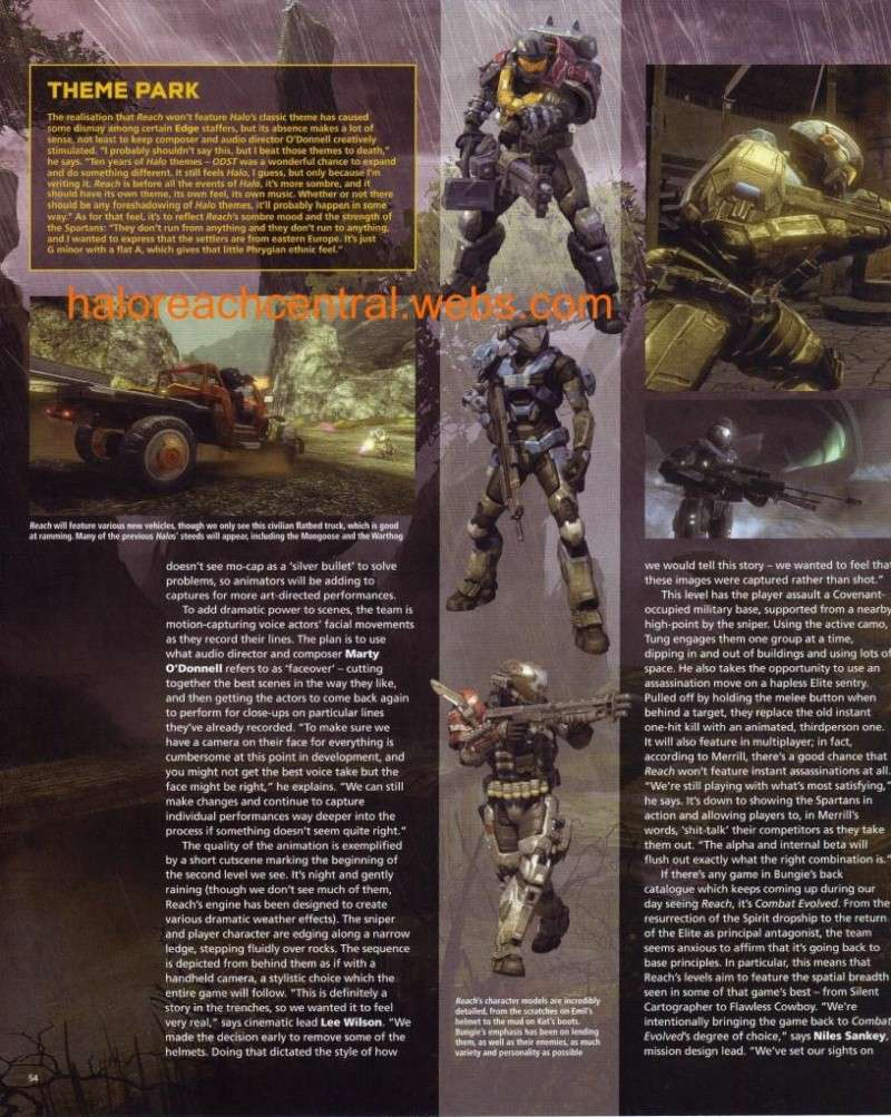More halo reach info from EDGE with Scans Page5410