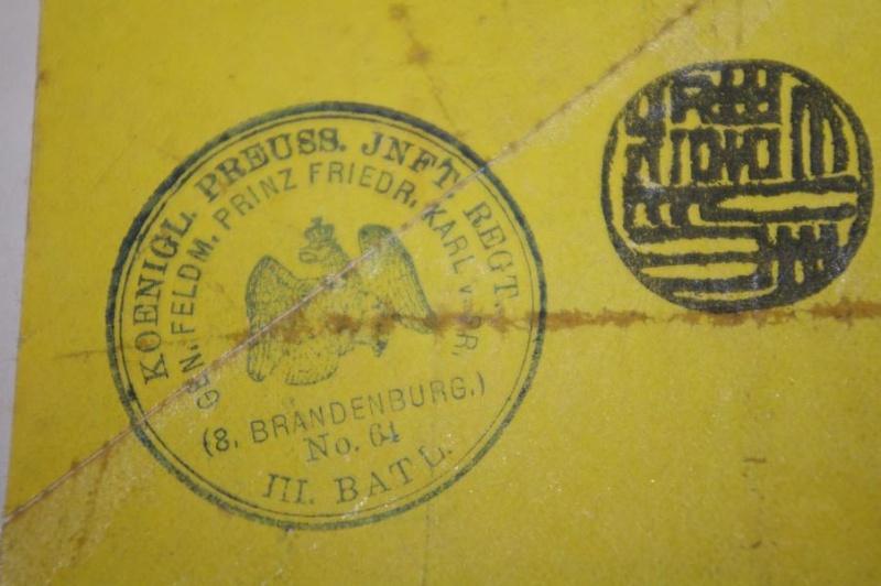 Frei laut Entschädigungs- Conto. und Koenigl. Preuss. JNFT. REGT. K800_i14