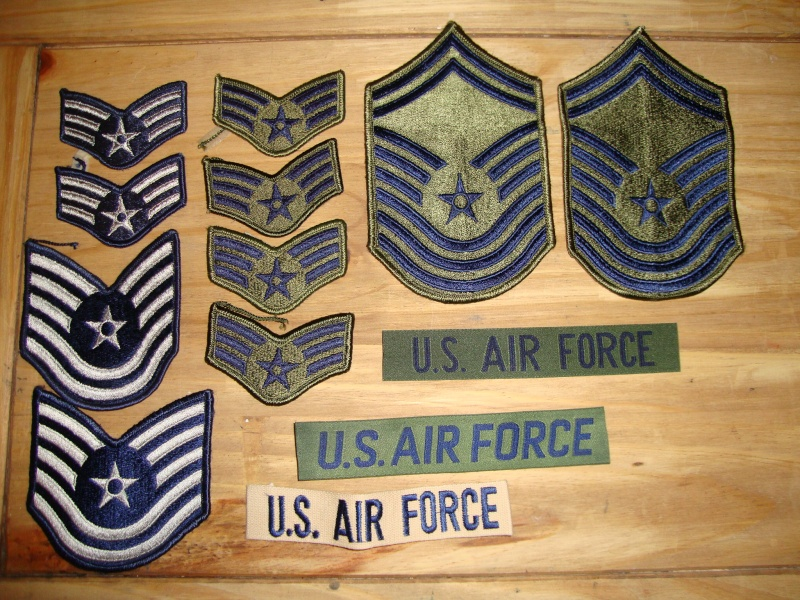 A few USAF ranks,and title's Dsc08111