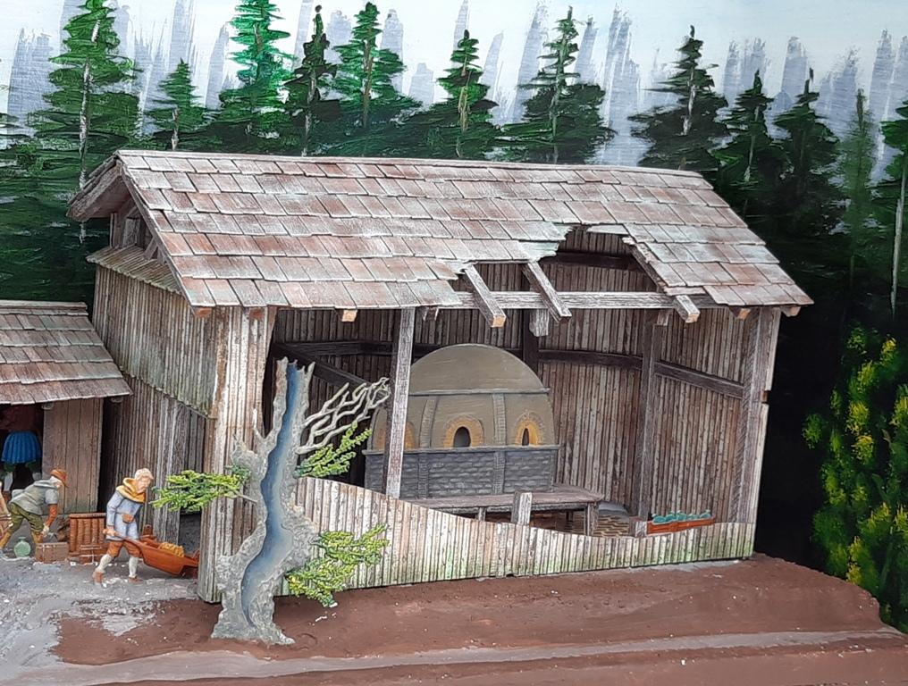 Altposchingerhütte um 1600, 30mm Figuren 20200523