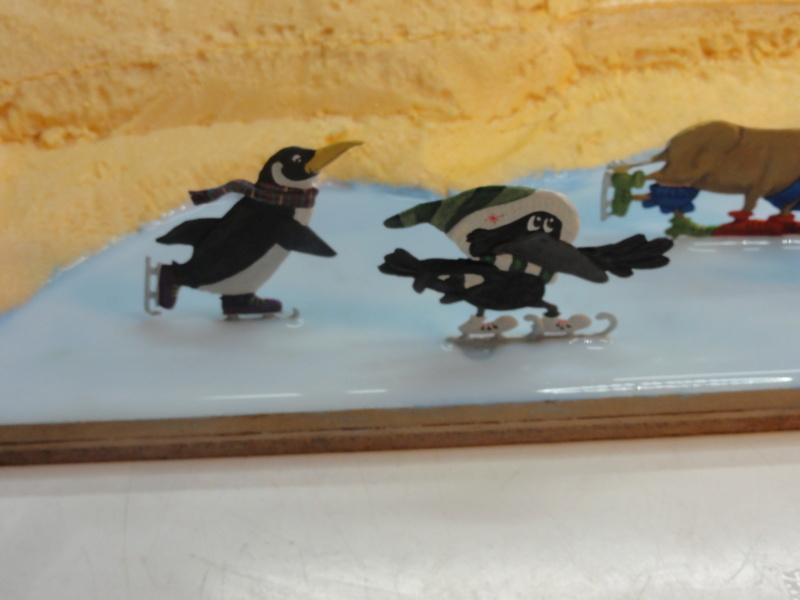 Winterspaß der Tiere, Zinnfiguren- flach, Raizinn Dsc08135
