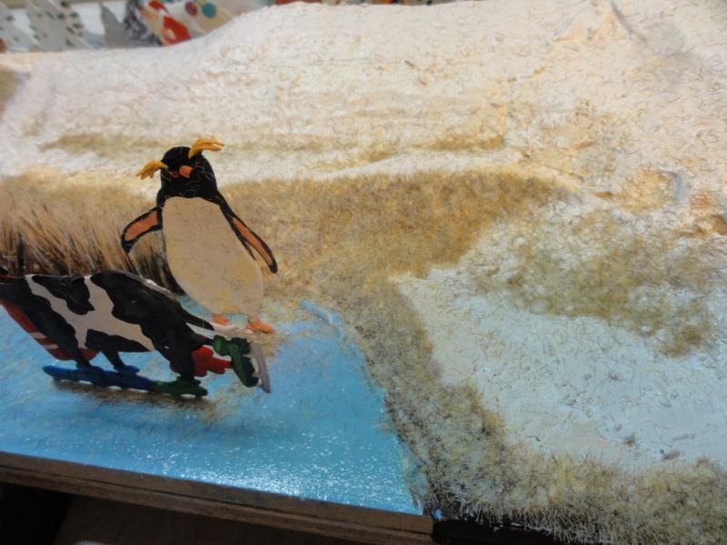 Winterspaß der Tiere, Zinnfiguren- flach, Raizinn Dsc08137