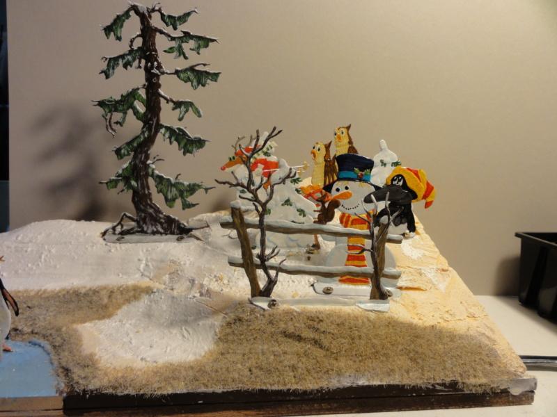 Winterspaß der Tiere, Zinnfiguren- flach, Raizinn Dsc08140