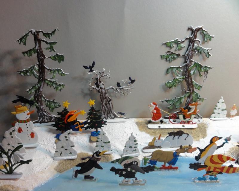 Winterspaß der Tiere, Zinnfiguren- flach, Raizinn Dsc08141