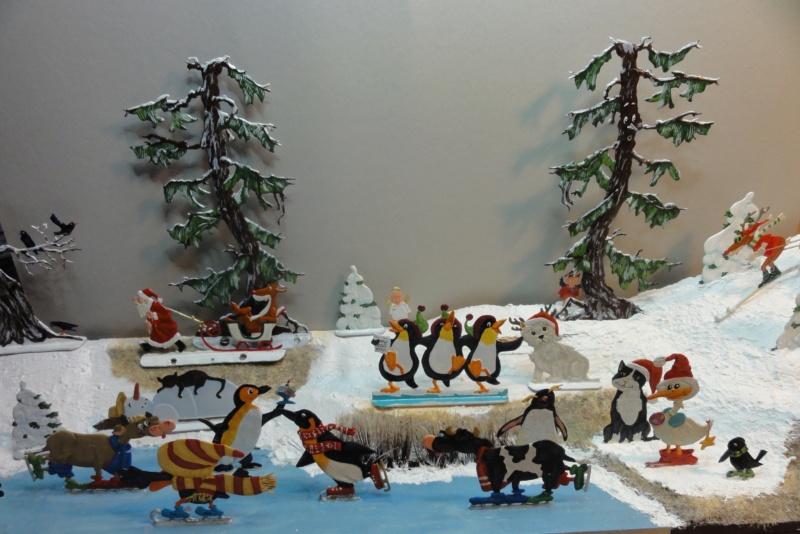 Winterspaß der Tiere, Zinnfiguren- flach, Raizinn Dsc08142