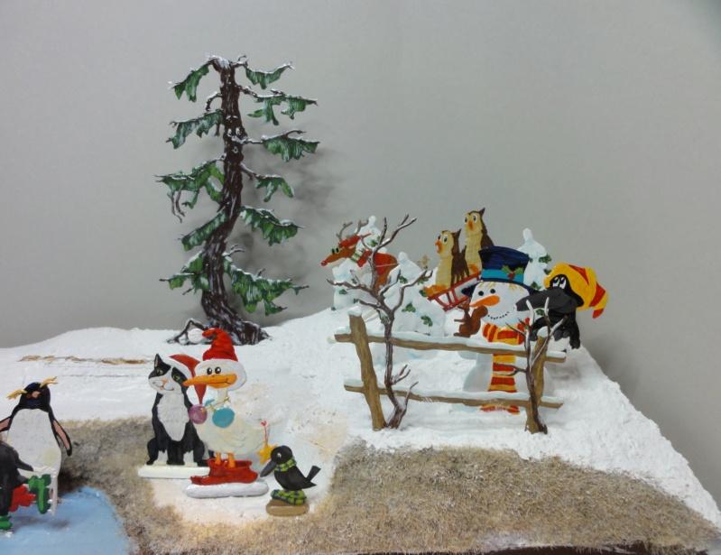 Winterspaß der Tiere, Zinnfiguren- flach, Raizinn Dsc08149