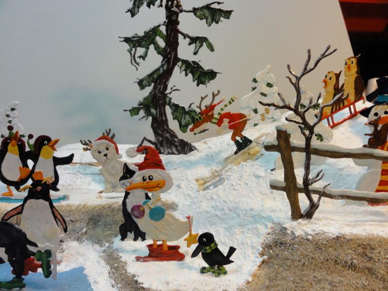 Winterspaß der Tiere, Zinnfiguren- flach, Raizinn Dsc08210