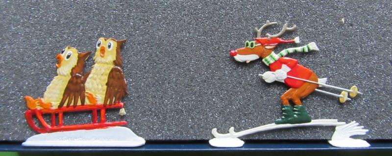 Winterspaß der Tiere, Zinnfiguren- flach, Raizinn Img_0345