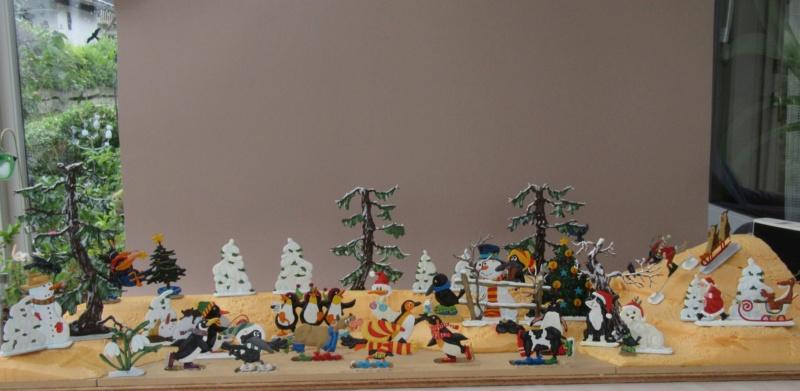 Winterspaß der Tiere, Zinnfiguren- flach, Raizinn Img_0350