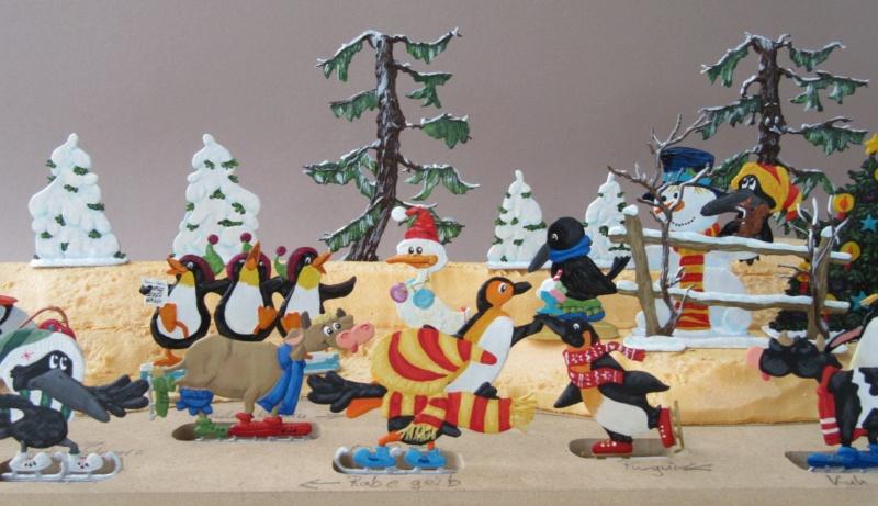 Winterspaß der Tiere, Zinnfiguren- flach, Raizinn Img_0351