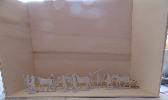 Salzsäumer um 1400, Der Burgstall Zwiesel, 30mm Figuren Img_2112