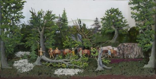 Salzsäumer um 1400, Der Burgstall Zwiesel, 30mm Figuren Img_2431
