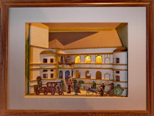 """Diorama """"das Traumschloss im Wald"""", 30 mm flach Schlos12"""