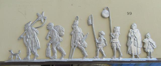 Laternenzug der Tiere, Flachfiguren 54 mm, Raizinn Schmal14