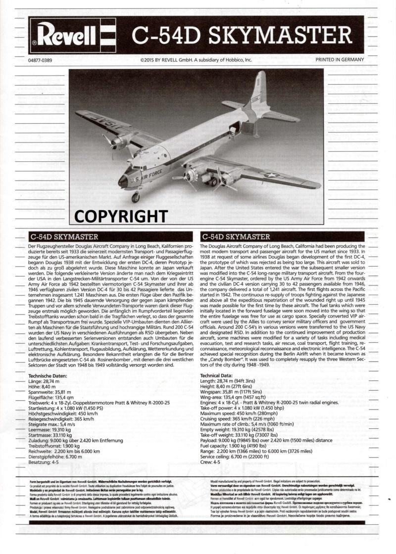 C-54 D  SKYMASTER in 1:72 von Revell. 1a13