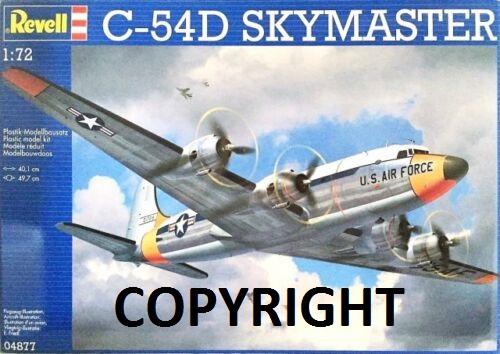 C-54 D  SKYMASTER in 1:72 von Revell. S-l50011