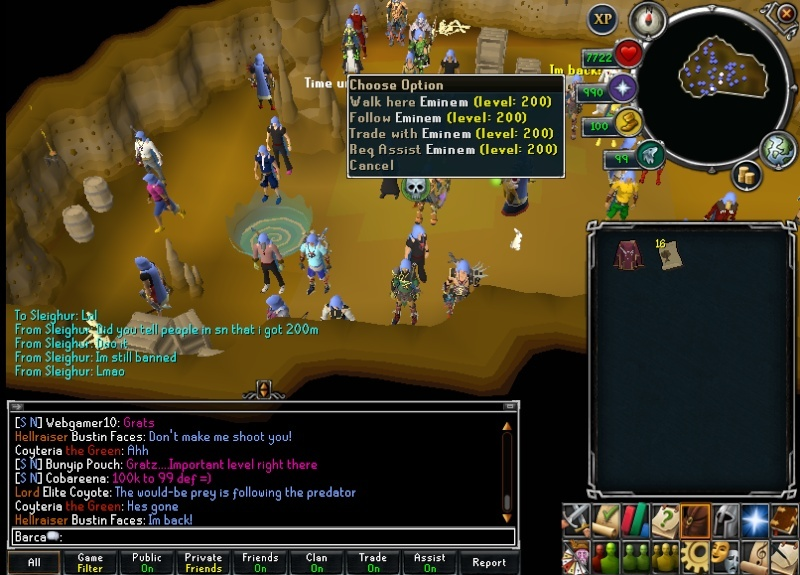Celebrities on Runescape Stalke10