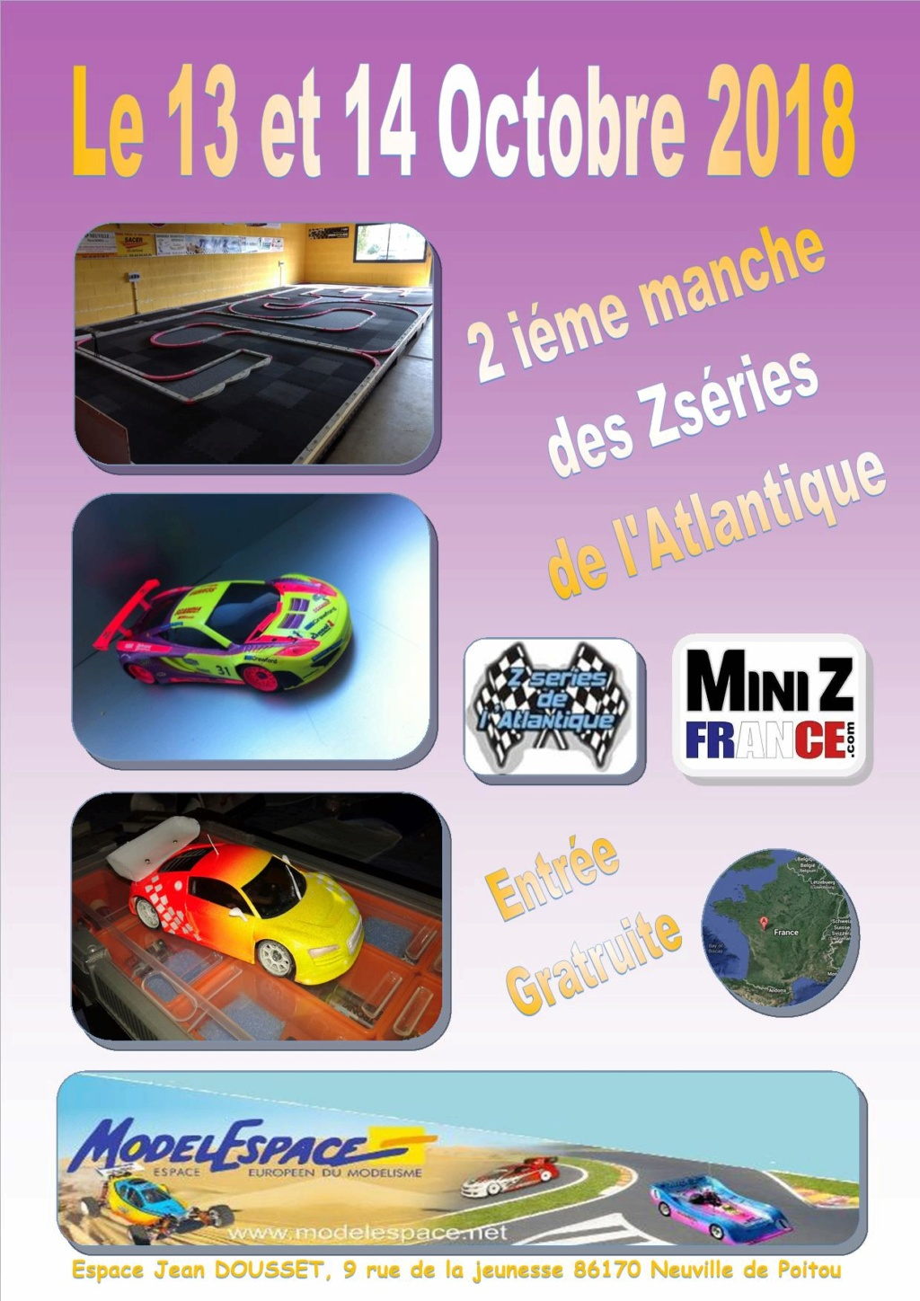 (86) 13-14 octobre 2018 seconde manche des Zseries de l'atlantique - modelespace 13-14_10