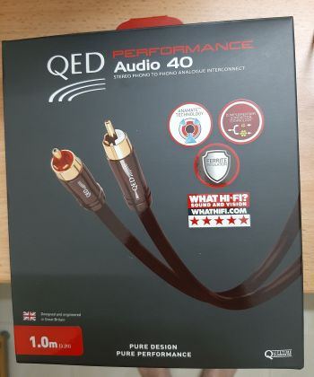 QED Performance Audio 40 RCA Interconnect 1M (New) 310