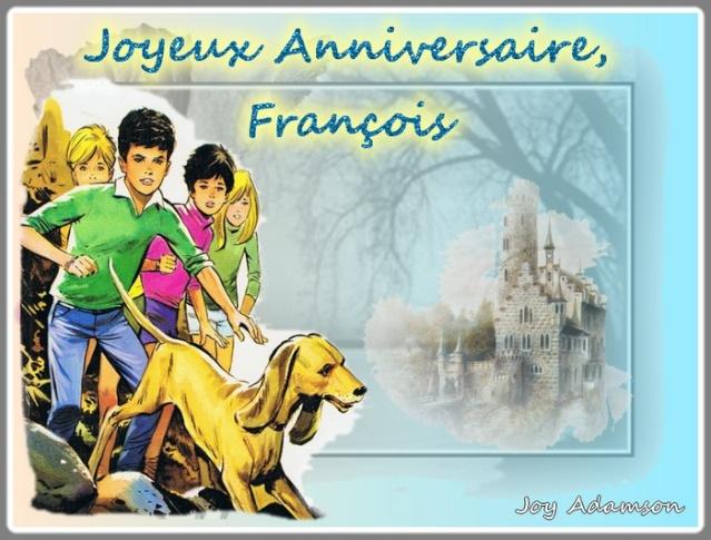 Bon Anniversaire A Francois De La Part De Marcelle Et Jean Claude