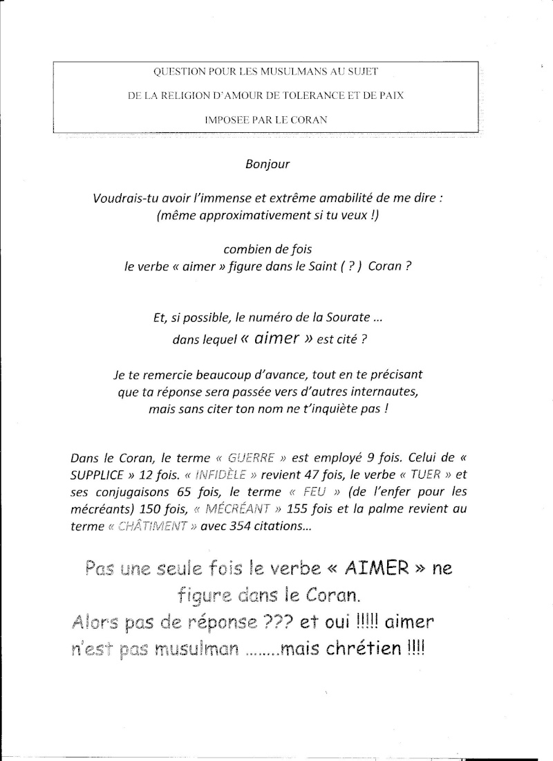 """Le """"saint"""" coran et les gens du Livres... Coran10"""