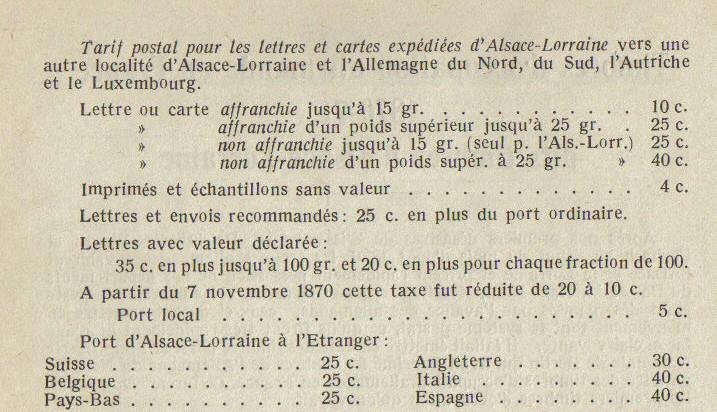 Tarif Alsace-Lorraine Al111