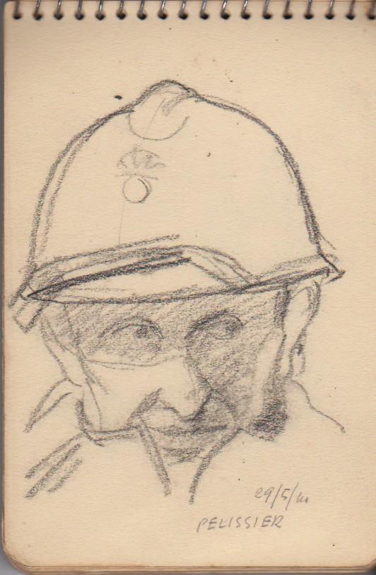 141ème Régiment d'Infanterie Alpine: Les croquis de guerre d'Emile Tudeau, soldat à la 10ème compagnie Carnet12