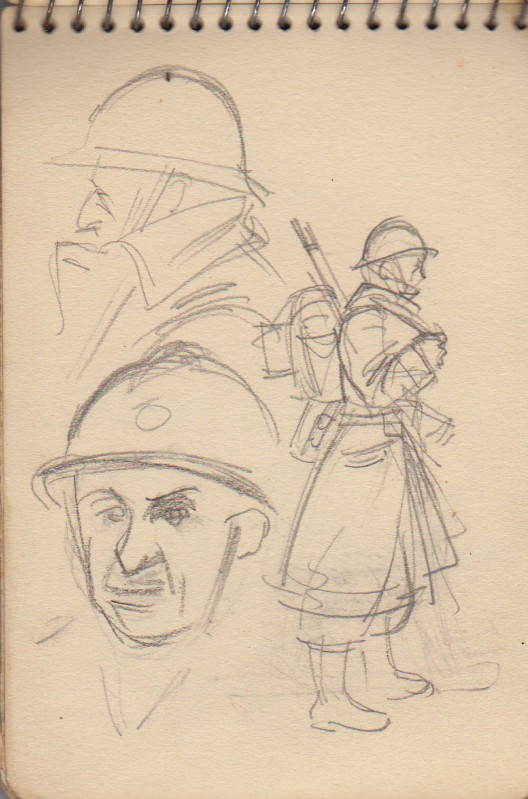 141ème Régiment d'Infanterie Alpine: Les croquis de guerre d'Emile Tudeau, soldat à la 10ème compagnie Carnet13