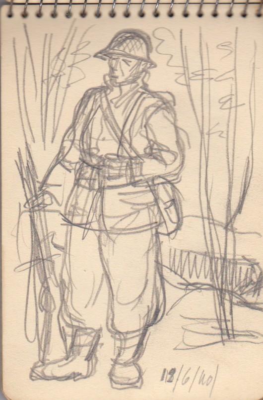 141ème Régiment d'Infanterie Alpine: Les croquis de guerre d'Emile Tudeau, soldat à la 10ème compagnie Carnet14