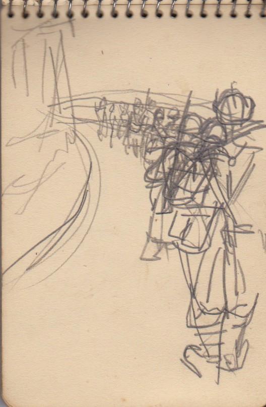 141ème Régiment d'Infanterie Alpine: Les croquis de guerre d'Emile Tudeau, soldat à la 10ème compagnie Carnet16