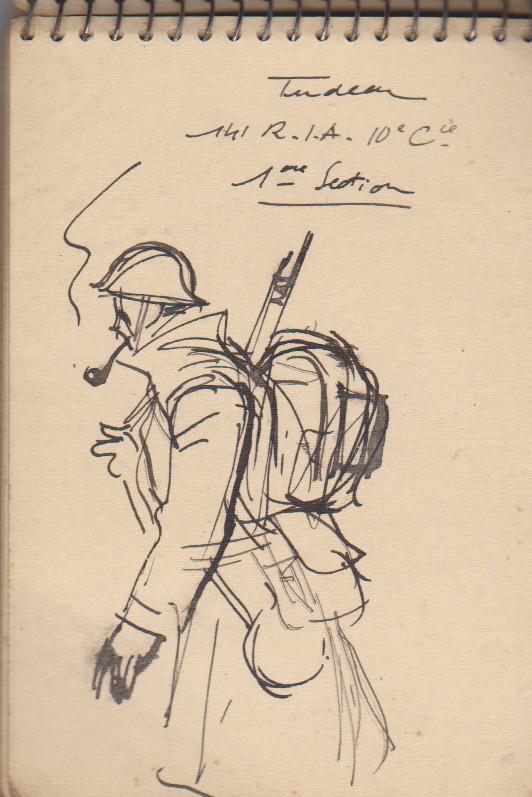 141ème Régiment d'Infanterie Alpine: Les croquis de guerre d'Emile Tudeau, soldat à la 10ème compagnie Carnet17