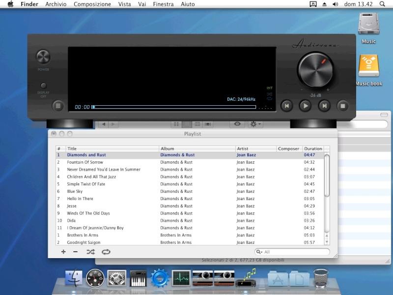 un portatile e un player da dedicare solo alla musica... Audirv11