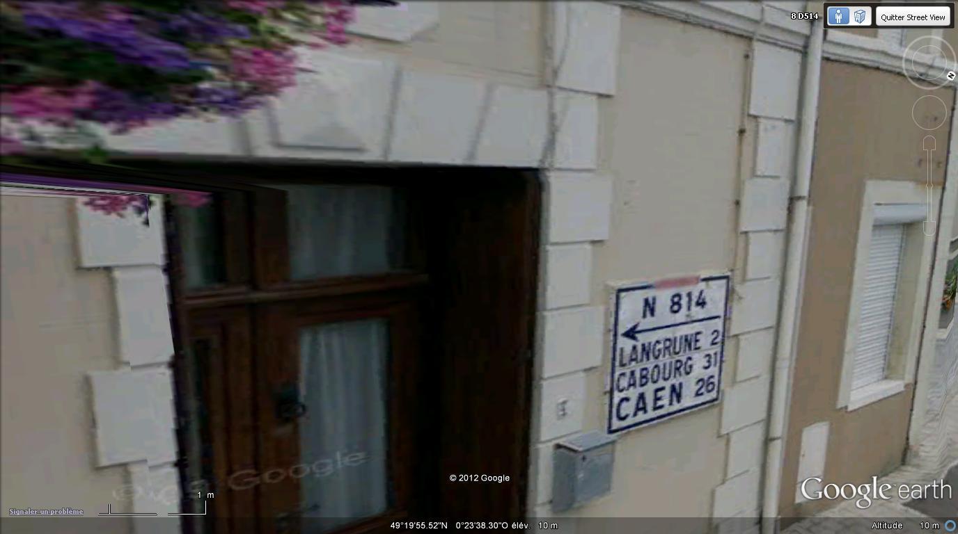 STREET VIEW : les bornes et les plaques Michelin Michel10