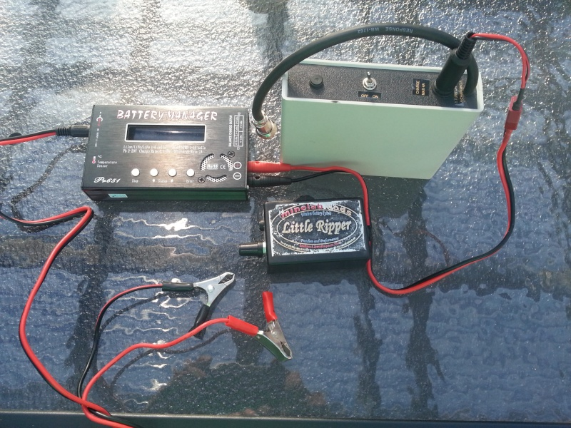 My spare battery set up-Little ripper wireless system 03510