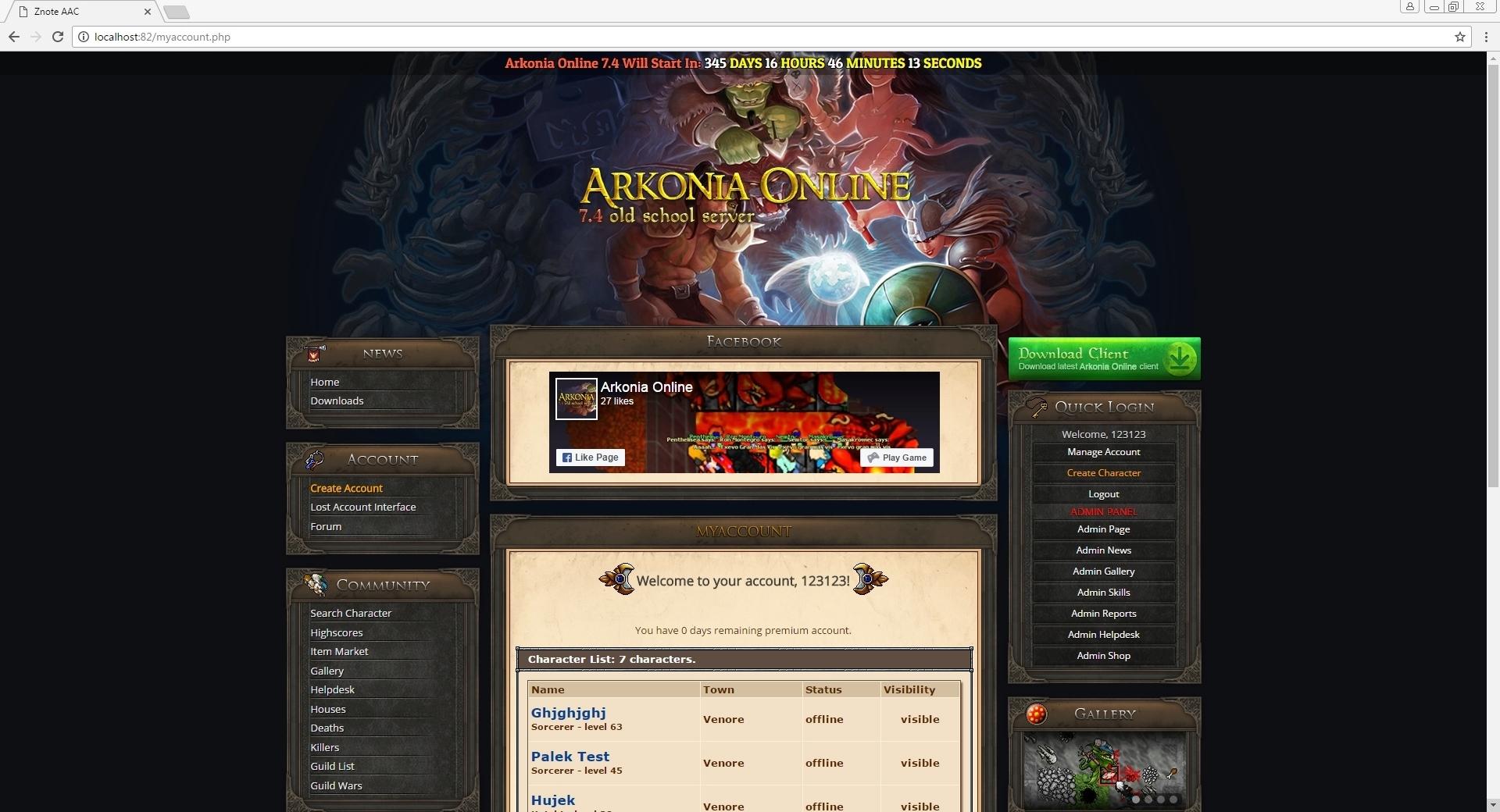 [Web] Znote Layout Arkonia 8c6ae610