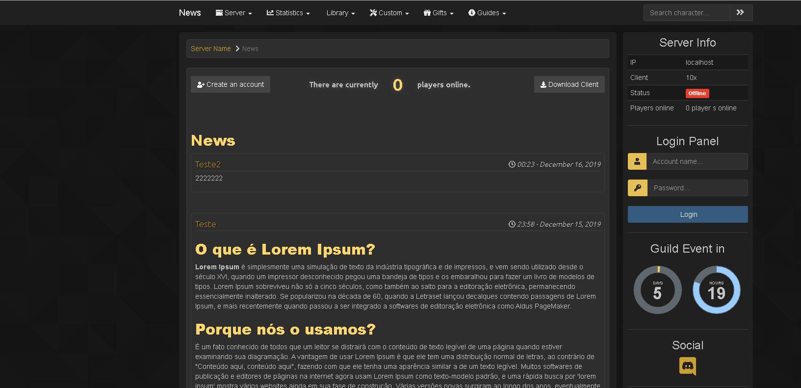 [Web] Baul layouts Gesior 2012 Previe10