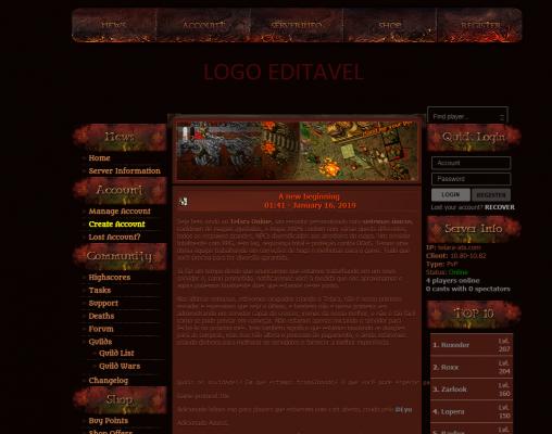 [Web] Baul layouts Gesior 2012 Previe12