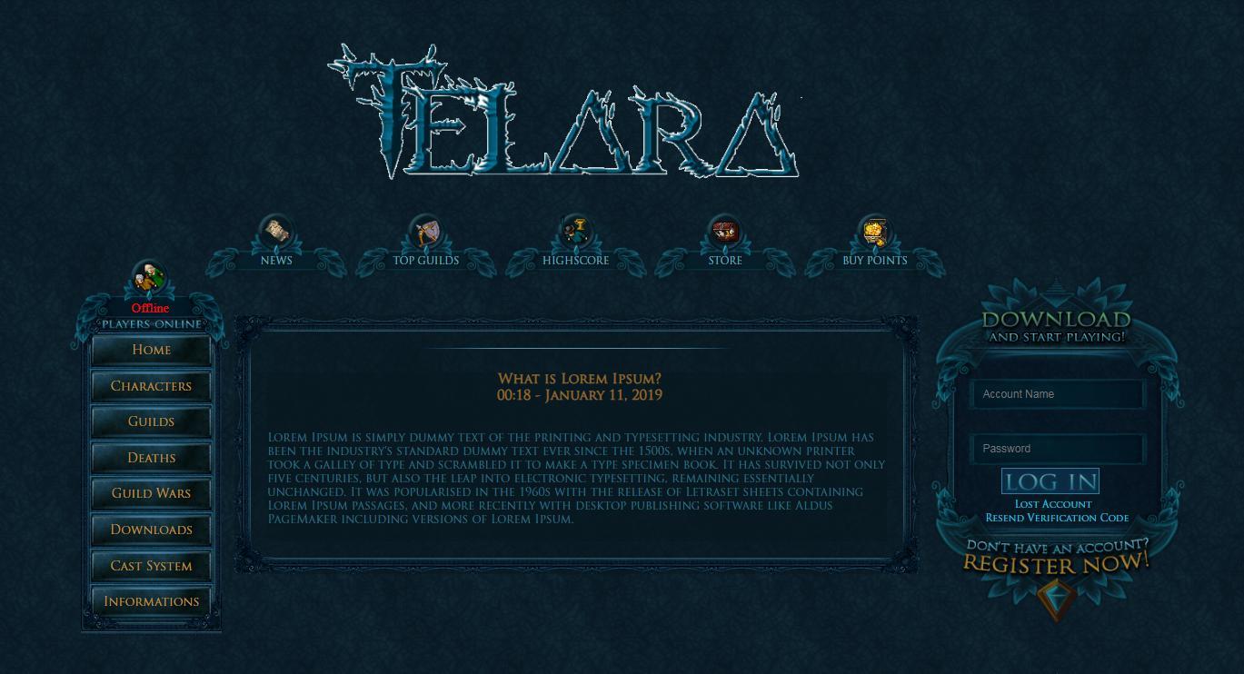 [Web] Baul layouts Gesior 2012 Previe15