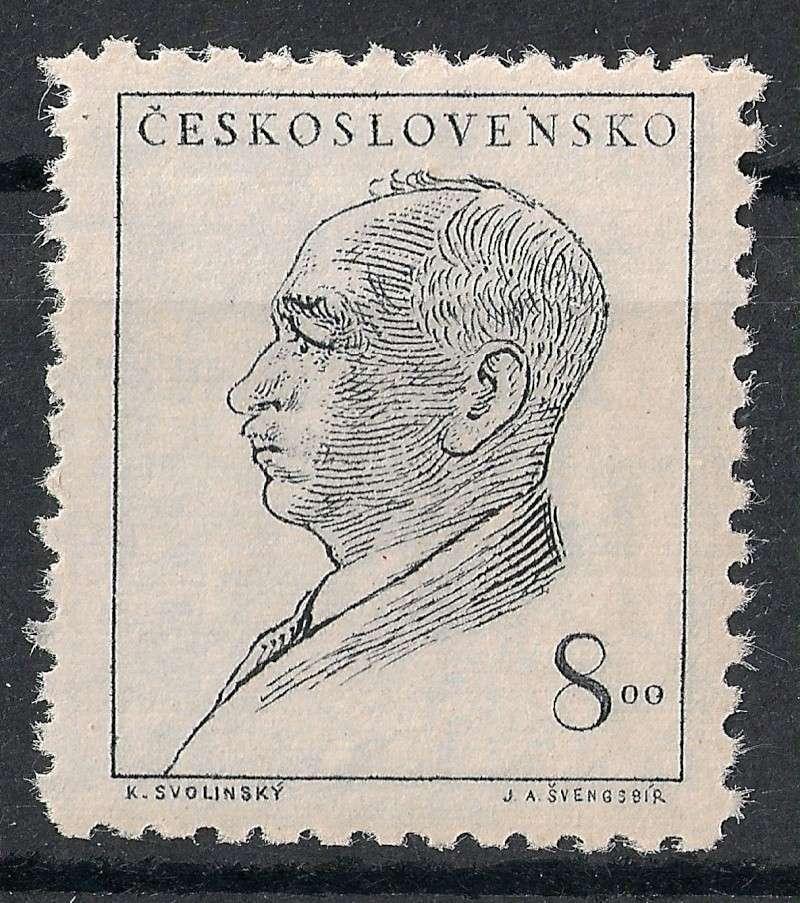 Tschechoslowakei - Briefmarkenausgaben 1948 Scanne21