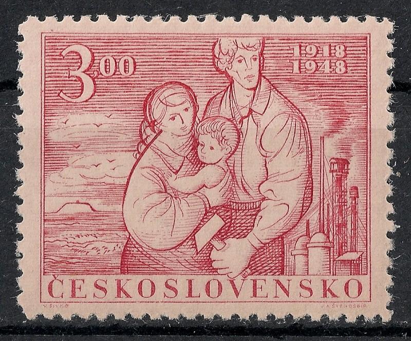 Tschechoslowakei - Briefmarkenausgaben 1948 Scanne34