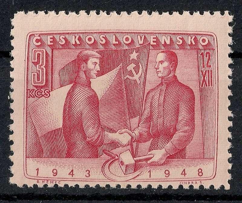 Tschechoslowakei - Briefmarkenausgaben 1948 Scanne64