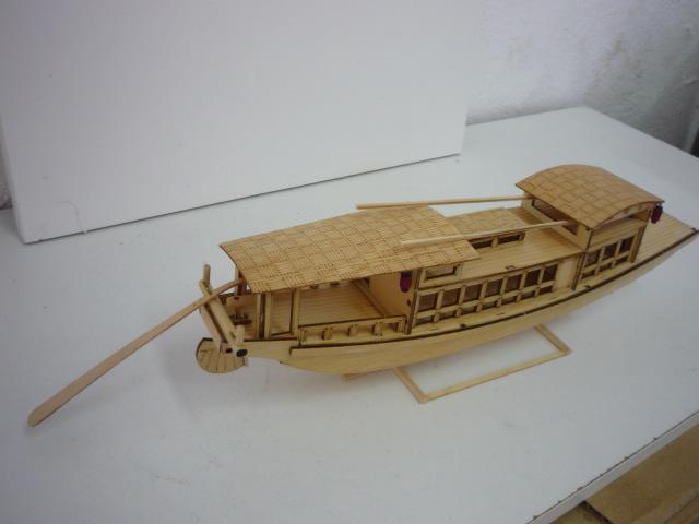 "Abri bateau traditionnel Asia (""300mm"" 1/50) bois P1080746"