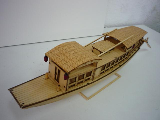 "Abri bateau traditionnel Asia (""300mm"" 1/50) bois P1080747"