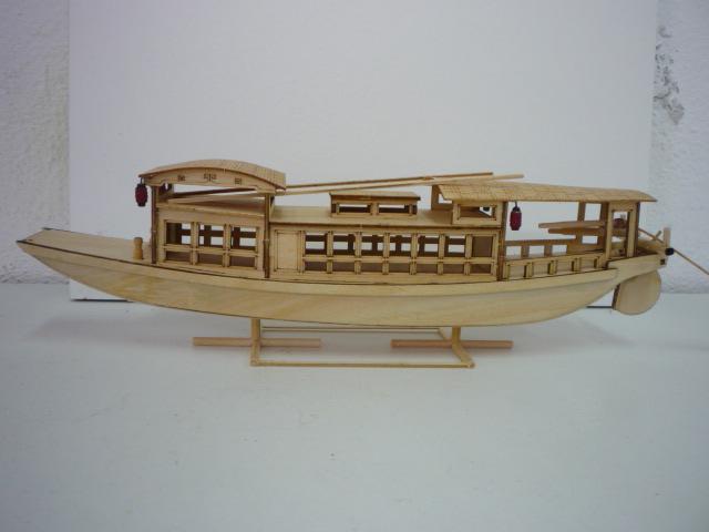 "Abri bateau traditionnel Asia (""300mm"" 1/50) bois P1080748"