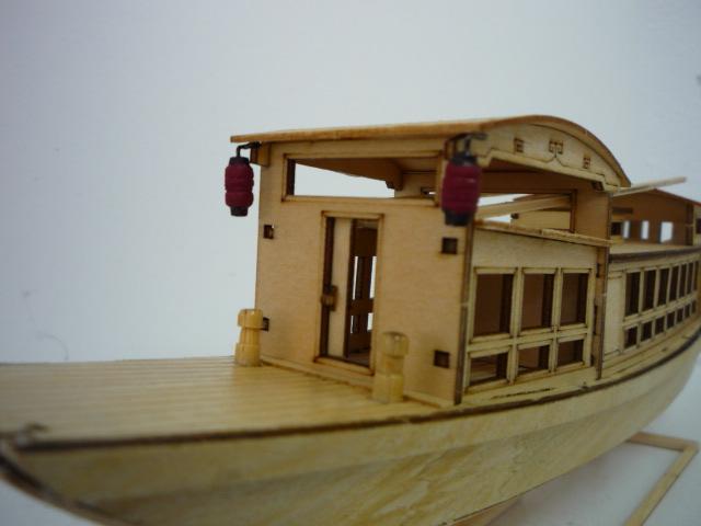 "Abri bateau traditionnel Asia (""300mm"" 1/50) bois P1080749"