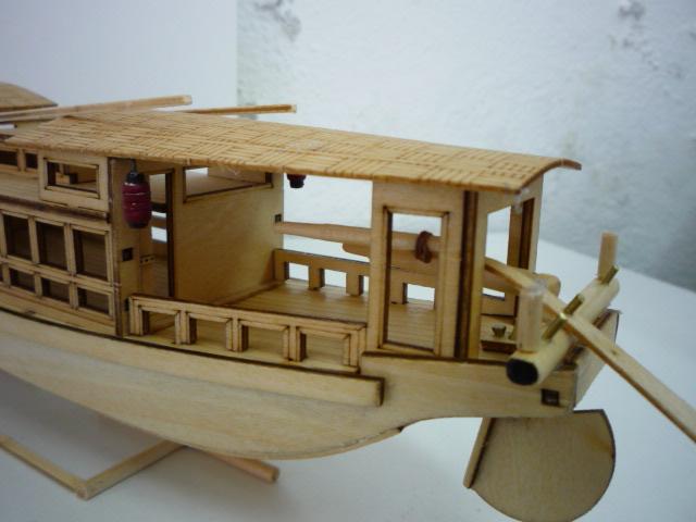 "Abri bateau traditionnel Asia (""300mm"" 1/50) bois P1080750"